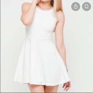 NWOT H&M Skater Dress White textured
